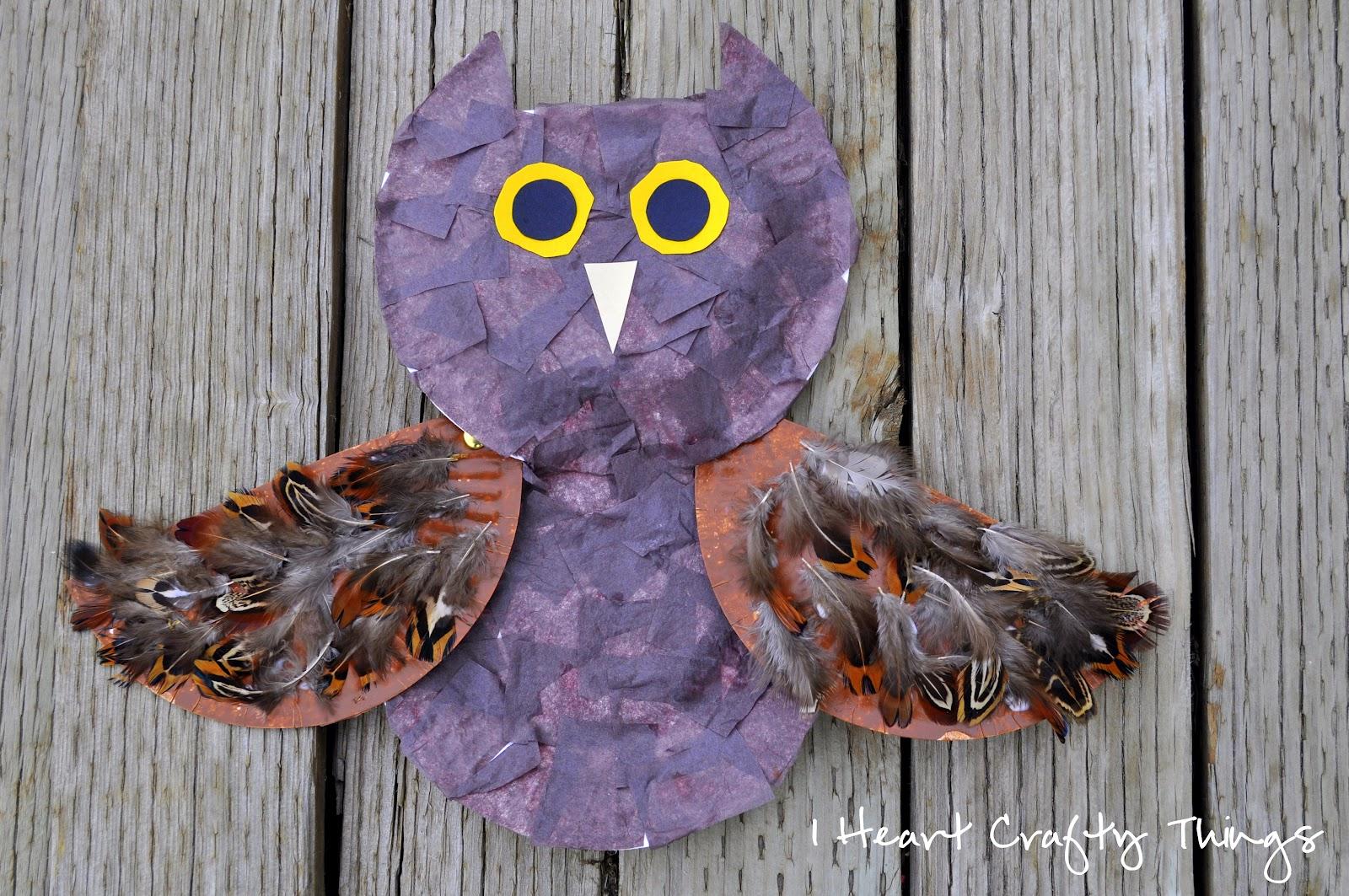 A Textured Owl Craft & A Textured Owl Craft | I Heart Crafty Things