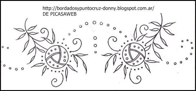 BORDADOS Y PUNTO CRUZ: BORDADO - PUTO CRUZ - FLORES PARA CALCAR Y ...