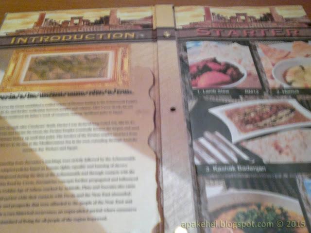 Menu - Persia Restorant