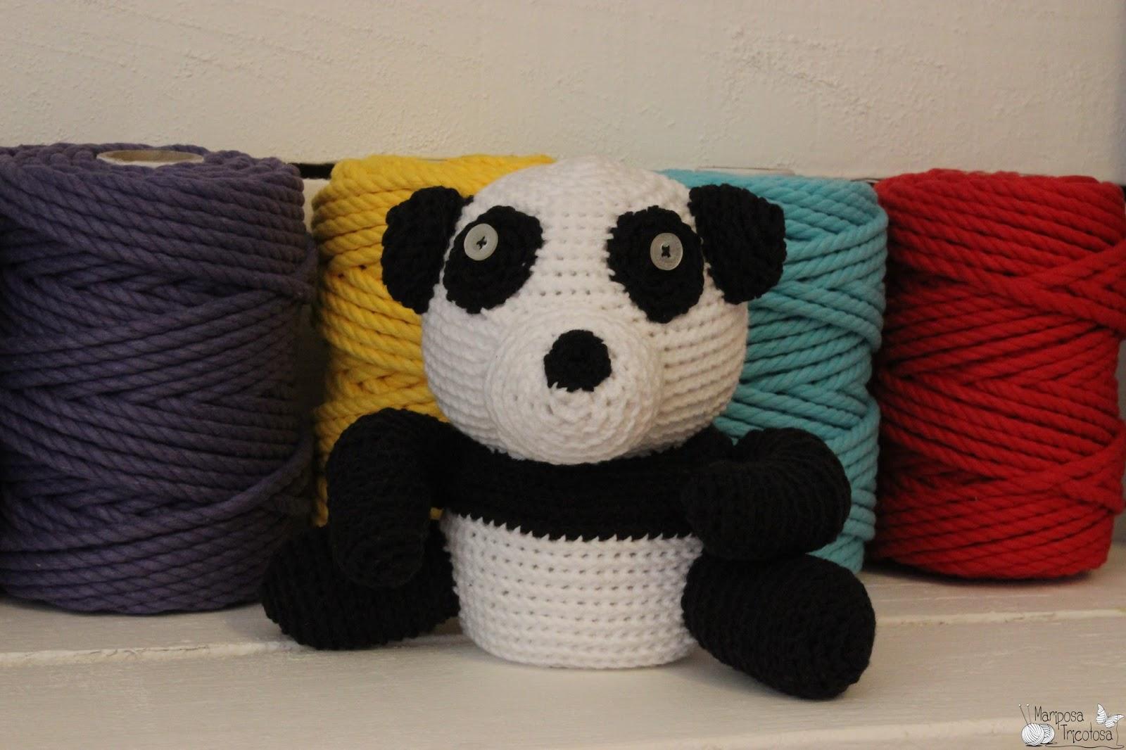Amigurumi De Panda : mariposa tricotosa: Amigurumi panda-cumpleanero