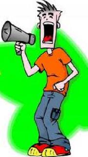 Ilustrasi gambar orang teriak/brteriak