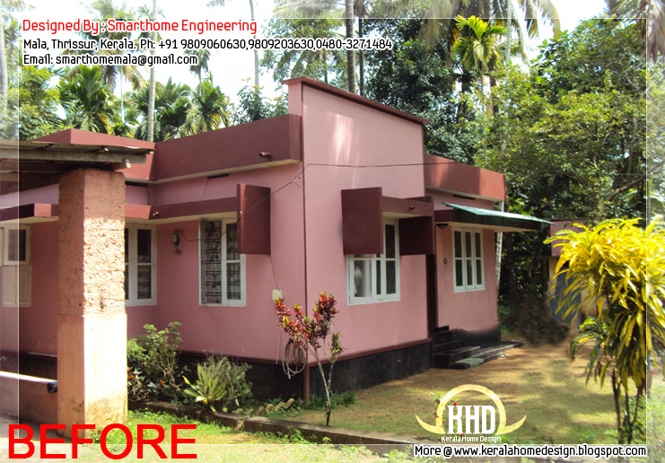 Before and after modification of existing house kerala Old home renovation in kerala