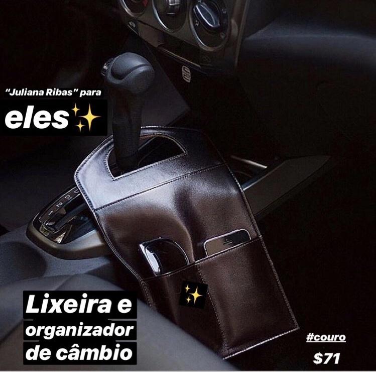 LIXEIRA EM COURO ORGANIZADOR DE CÂMBIO!