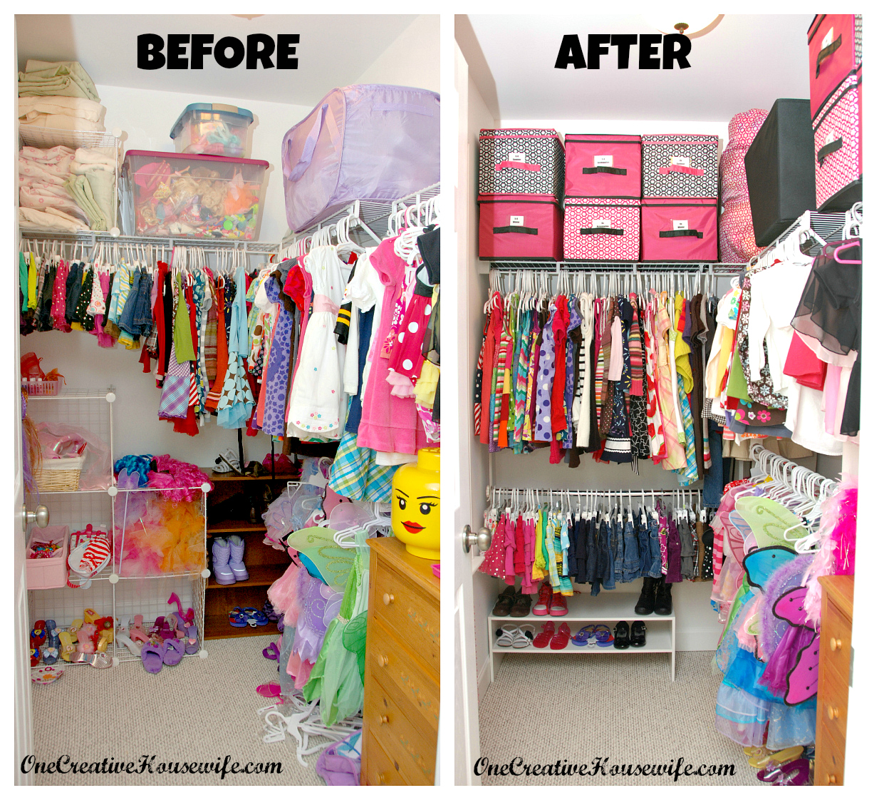 Her Closet Is A Little Strange. It Has A Window That Makes The Majority Of  One Wall Basically Unusable. To Begin, I Removed Everything From Her Closet,  ...