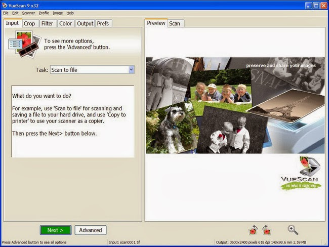 أفضل برنامج لقراءة والتعامل مع جميع أنواع الماسحات الضوئية إسكانر لويندوز ولينكس وماك VueScan 9.4.23