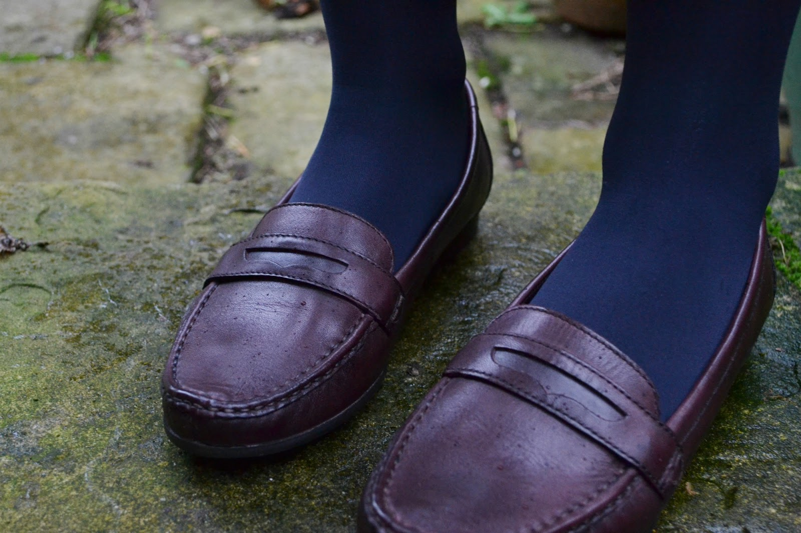 M&S burgundy loafers sale