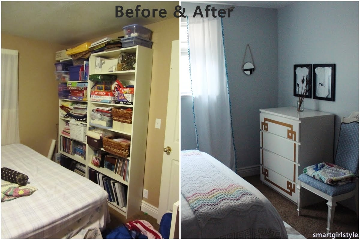 Smartgirlstyle bedroom makeover putting it all together - Low cost decorating ideas seven smart tips ...