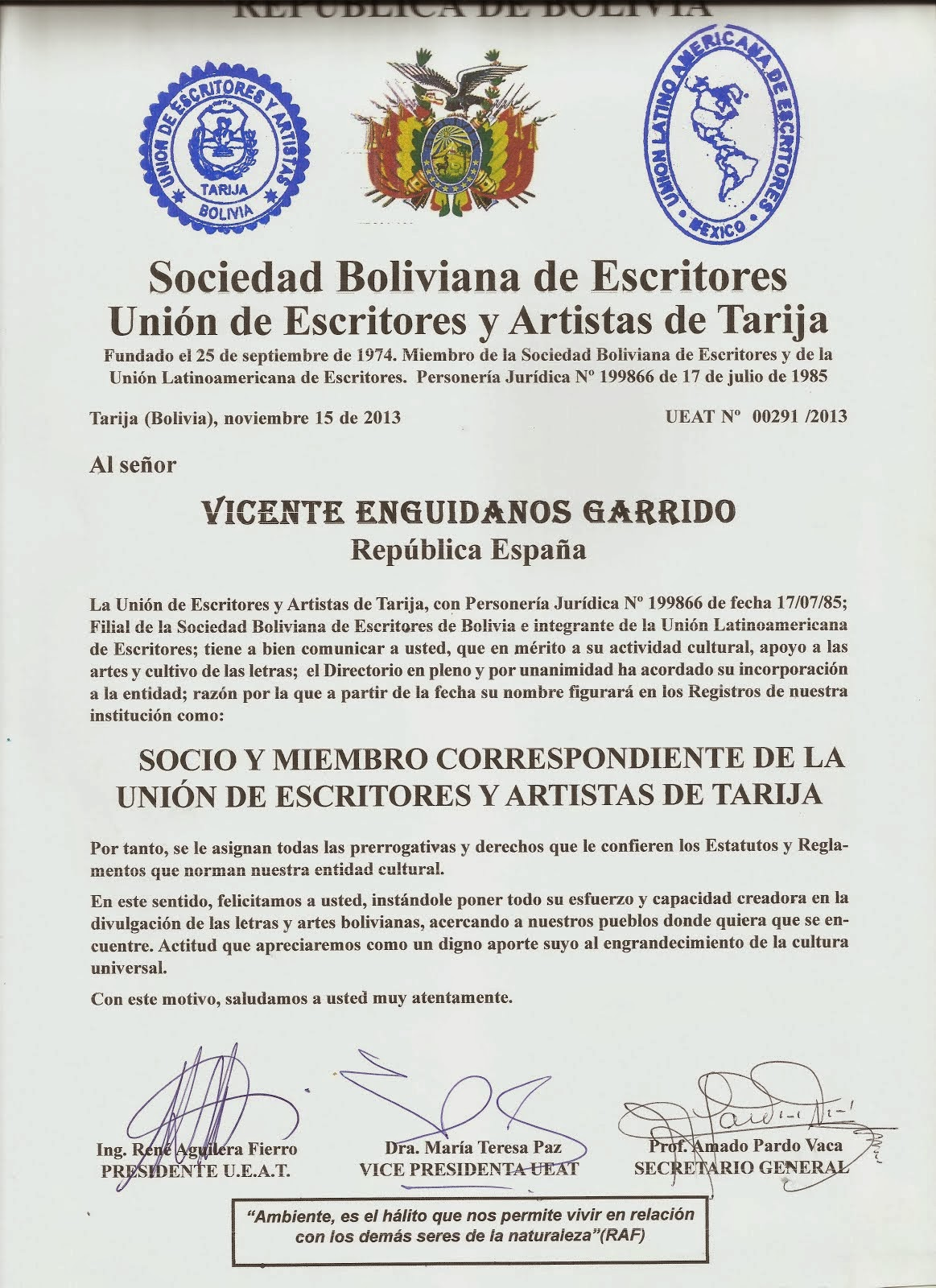 SOCIEDAD BOLIVIANA DE ESCRITORES