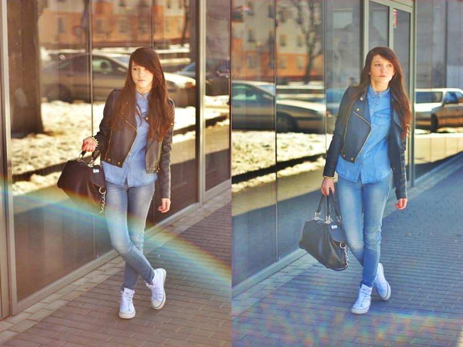 81dc6287e5510 Koszula jest dość eleganckim elementem tak jak i torebka-jednak buty nadają  nieco sportowego charakteru