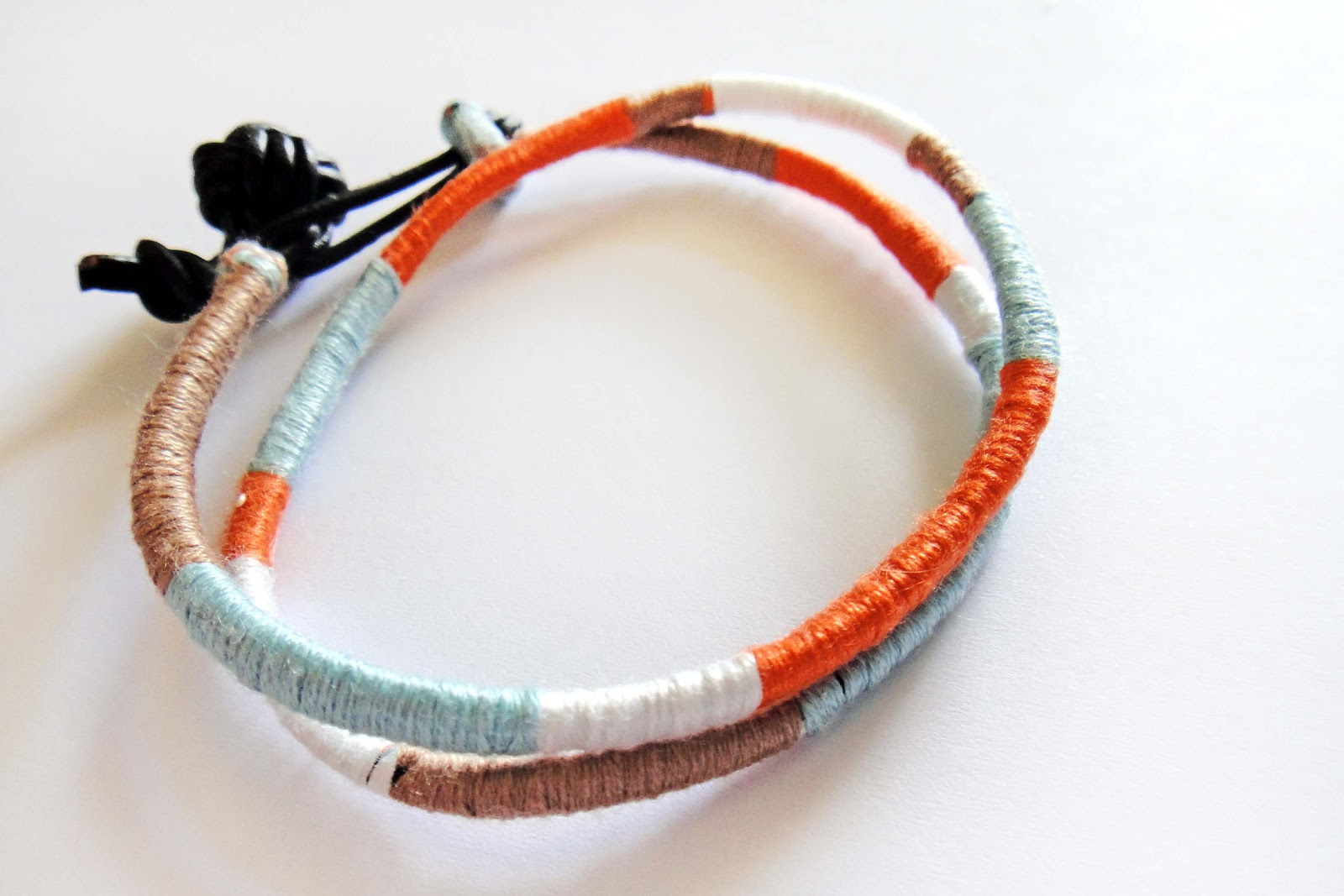 the embroidery thread hare bracelet tutorial blocked colorblocked gilded color diy friendship
