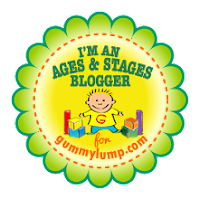 Ages & Stages Blogger for Gummy Lump Toys