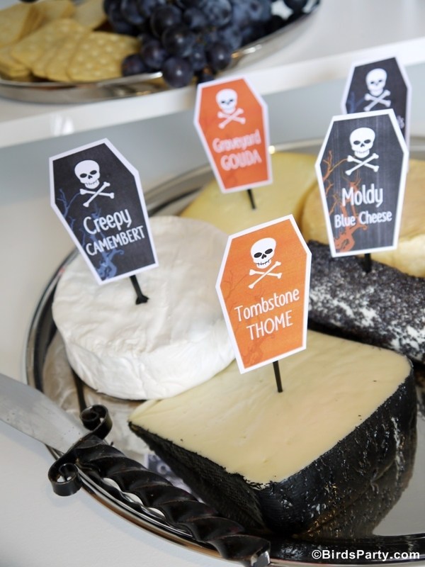 Halloween Cheese and Wine Party Ideas and FREE Printables