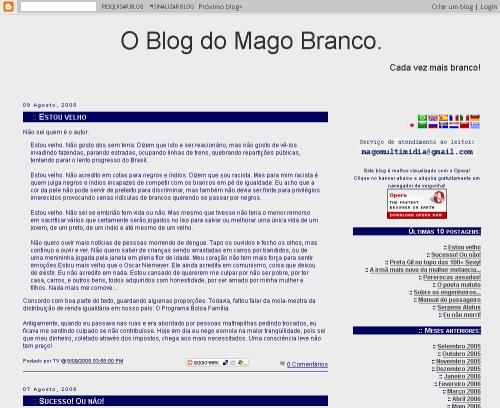 Viste O Blog do Mago Branco