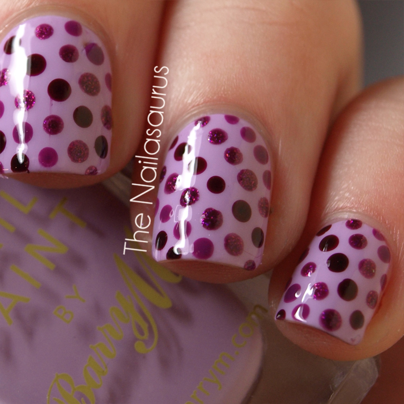 Day 11: Polka Dot Nails - The Nailasaurus