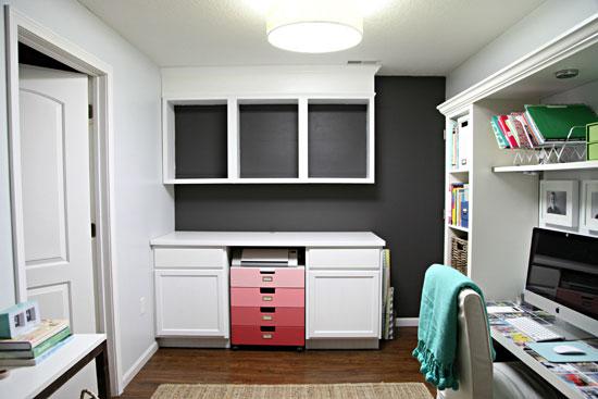Iheart organizing studio progress major cabinet upgrades for Caulking kitchen cabinets