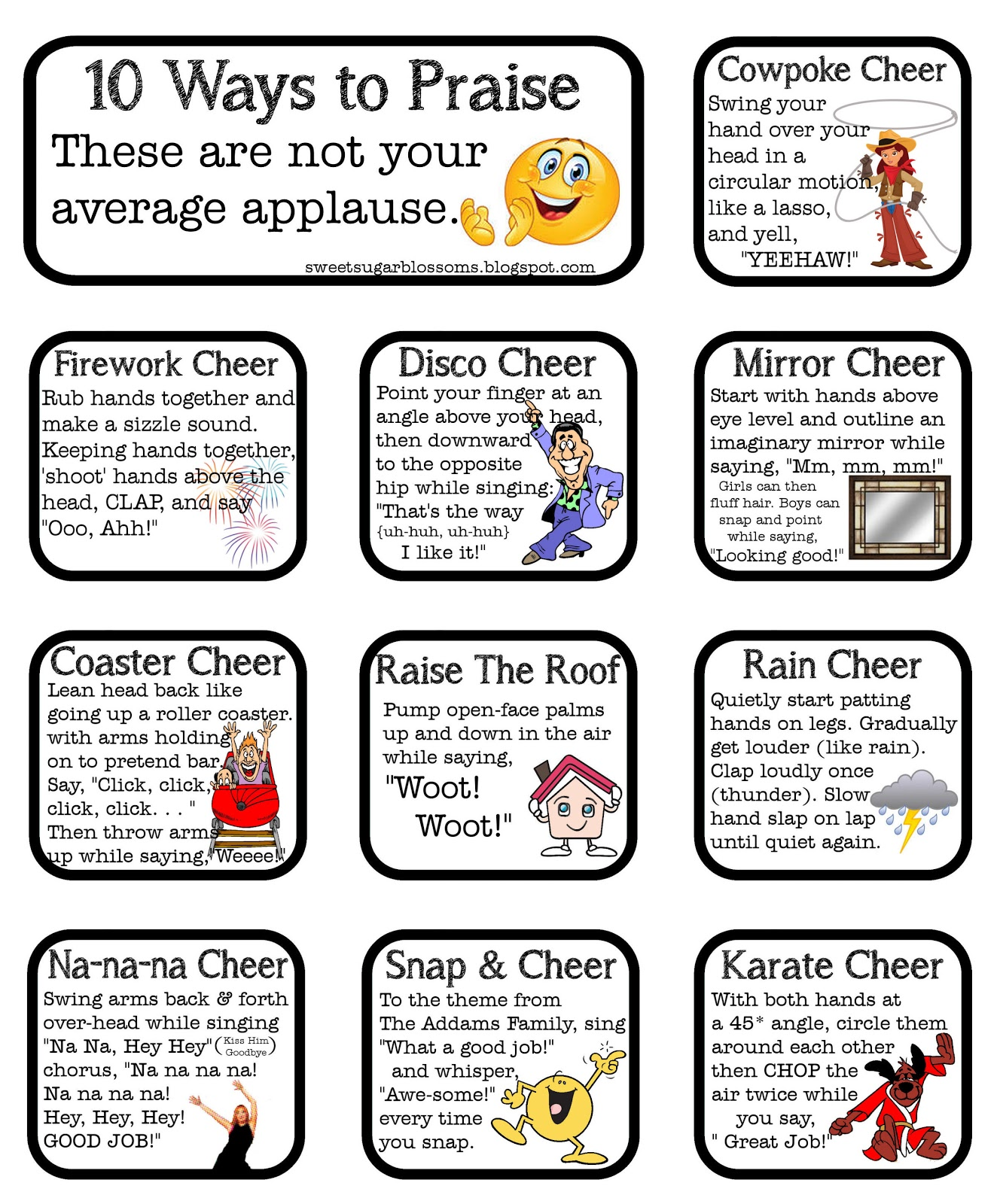 Cheers For Elementary Classrooms : Sweet sugar blossoms classroom cheers