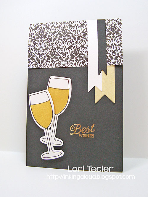 Best Wishes card-designed by Lori Tecler/Inking Aloud-stamps and dies from Clear and Simple Stamps