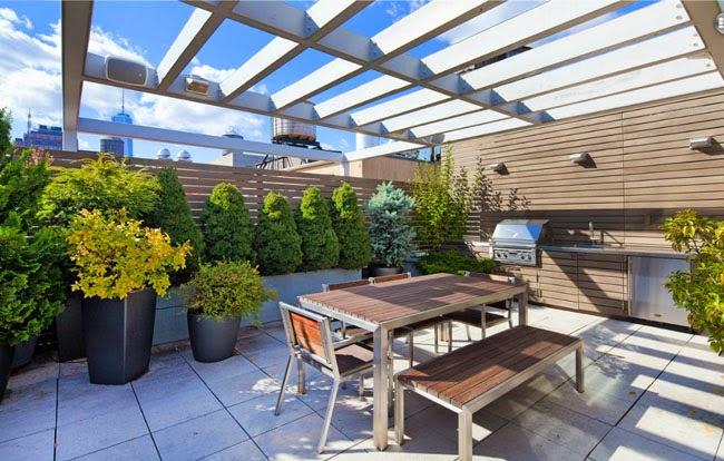 terrazas modernas modern rooftop minimalistas 2015