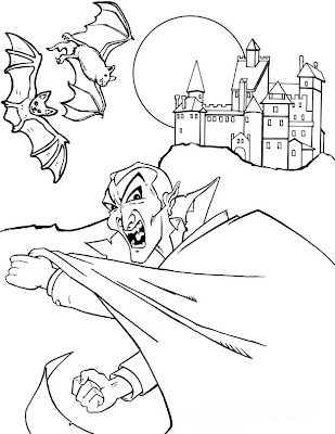 Vampire Bat Coloring Pages for Kids
