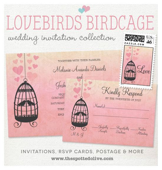 Lovebirds Birdcage Wedding Invitations