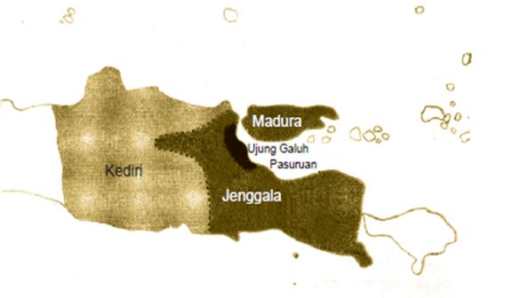 Peta Kerajaan Jenggala dan Kediri Kerajaan Kediri