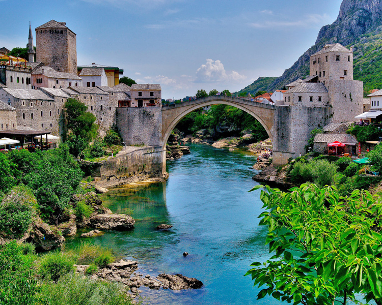 Old Bridge Area Of The Old City Of Mostar Most Beautiful Places In The World Download Free