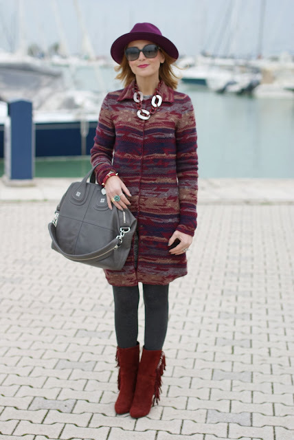 Jacquard coatigan, gaia d'este boots, Jean's west cardigan, Givenchy Nightingale bag, Fashion and Cookies, fashion blogger