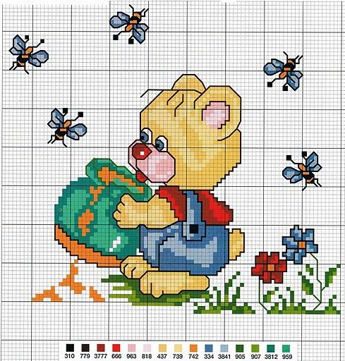 Creando ricamando schema orsetto con api for Schema punto croce orsetto