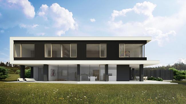 Hogares frescos impresionante casa moderna de cinco of for Casa moderna 9 mirote y blancana