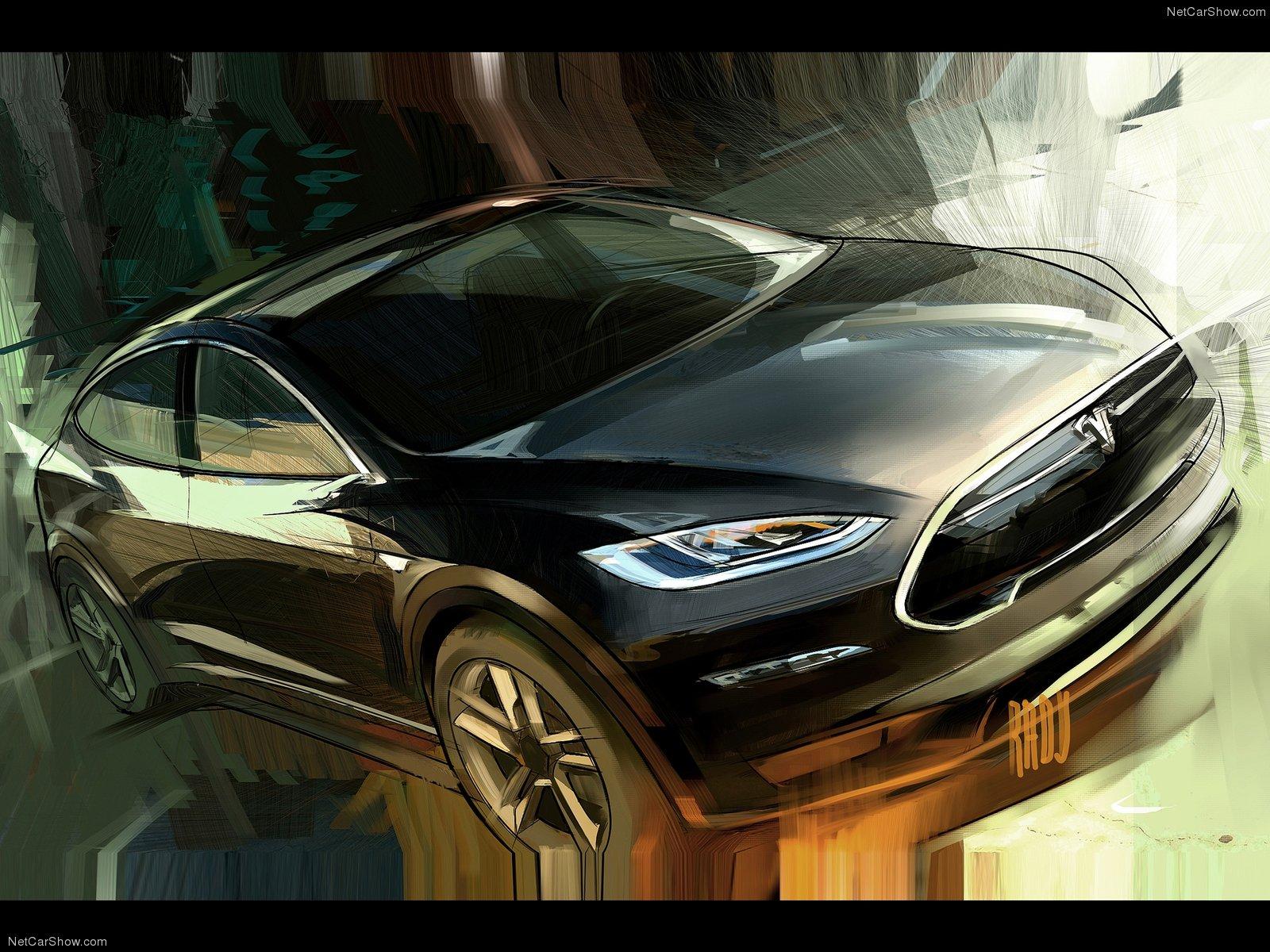 Hình ảnh xe điện Tesla Model X Prototype 2012 & nội ngoại thất