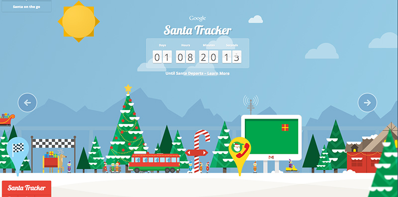 countdown to christmas eve with googles new santa tracker chrome app and interactive website