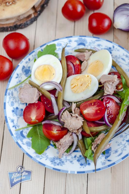 Sałatka z tuńczyka i fasolki szparagowej