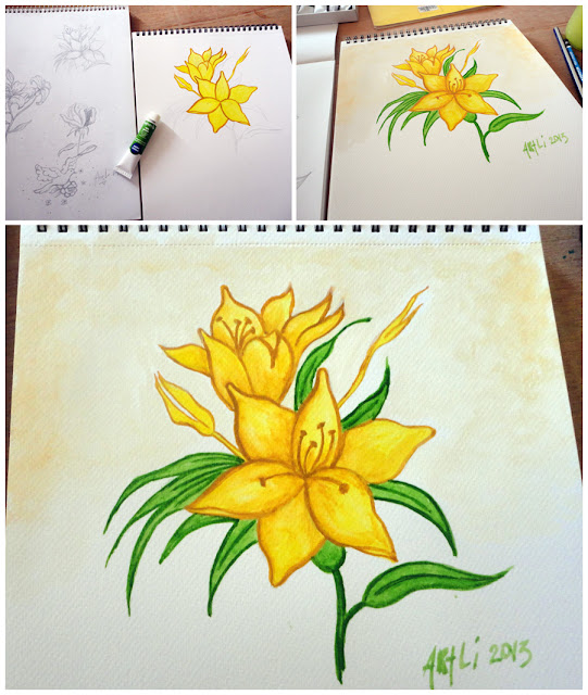 Art Li and Stuff - Watercolour painting of a flower