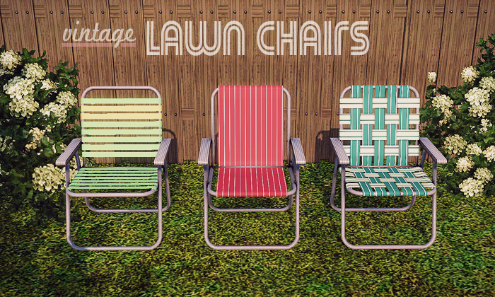 My Sims 3 Blog Vintage Lawn Chairs By Gelinabuilds