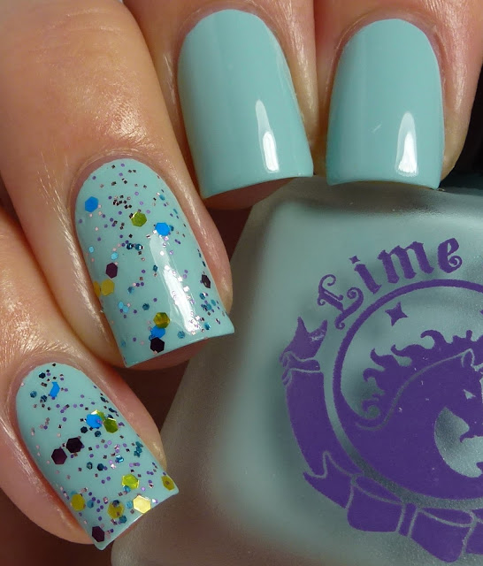 Once In A Blue Mousse, Lime Crime, We're Simply Meant To Be, Dollish Polish, swatch