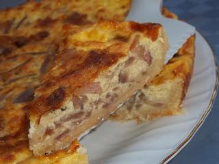 ... crostata di cipolle rosse e pancetta ...