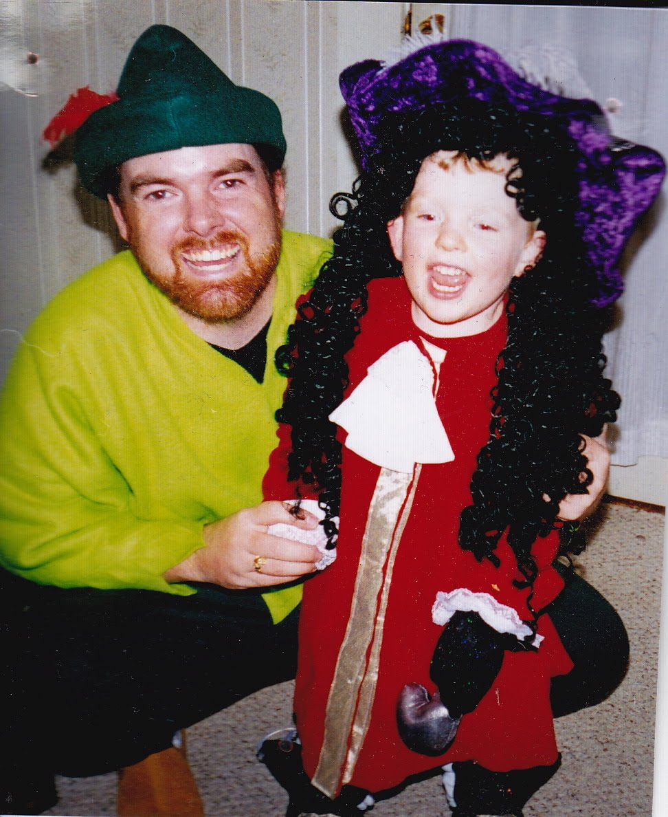 my life scanned: picture of me with my nephew, halloween 2002