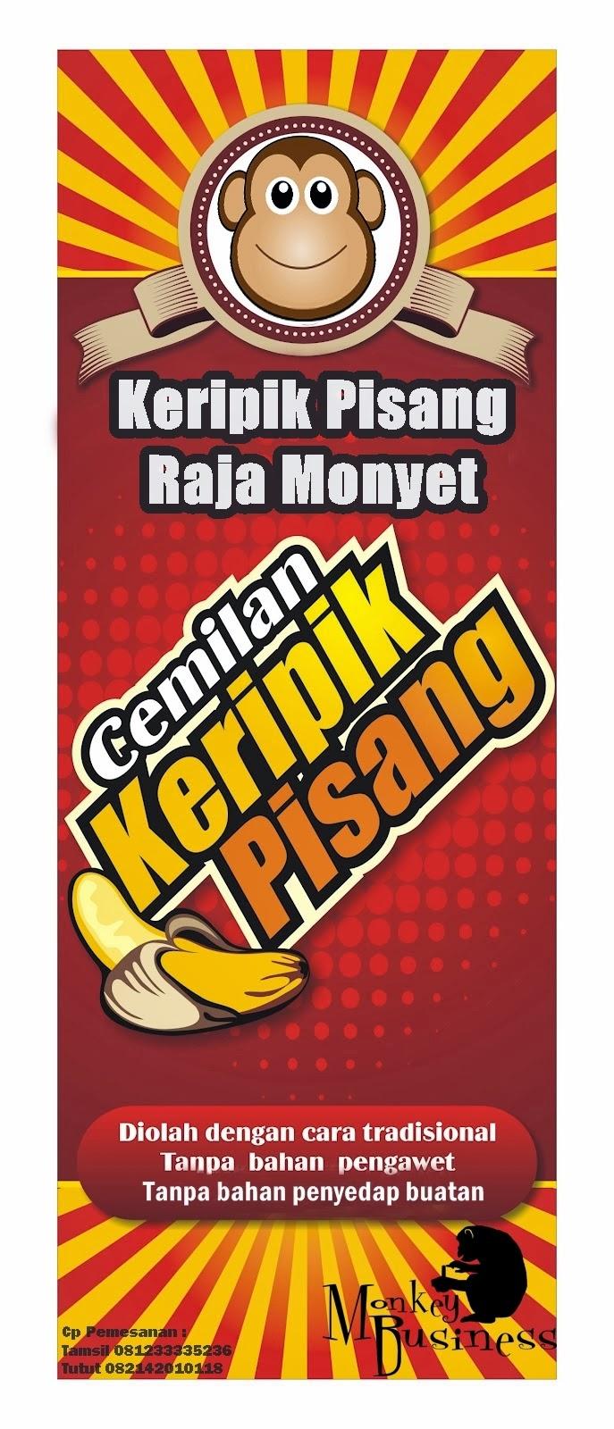 X Banner Keripik Pisang Raja Monyet