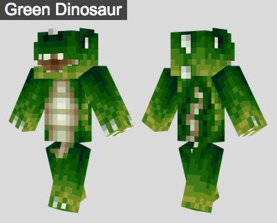 14. Green Dinosaur Skin