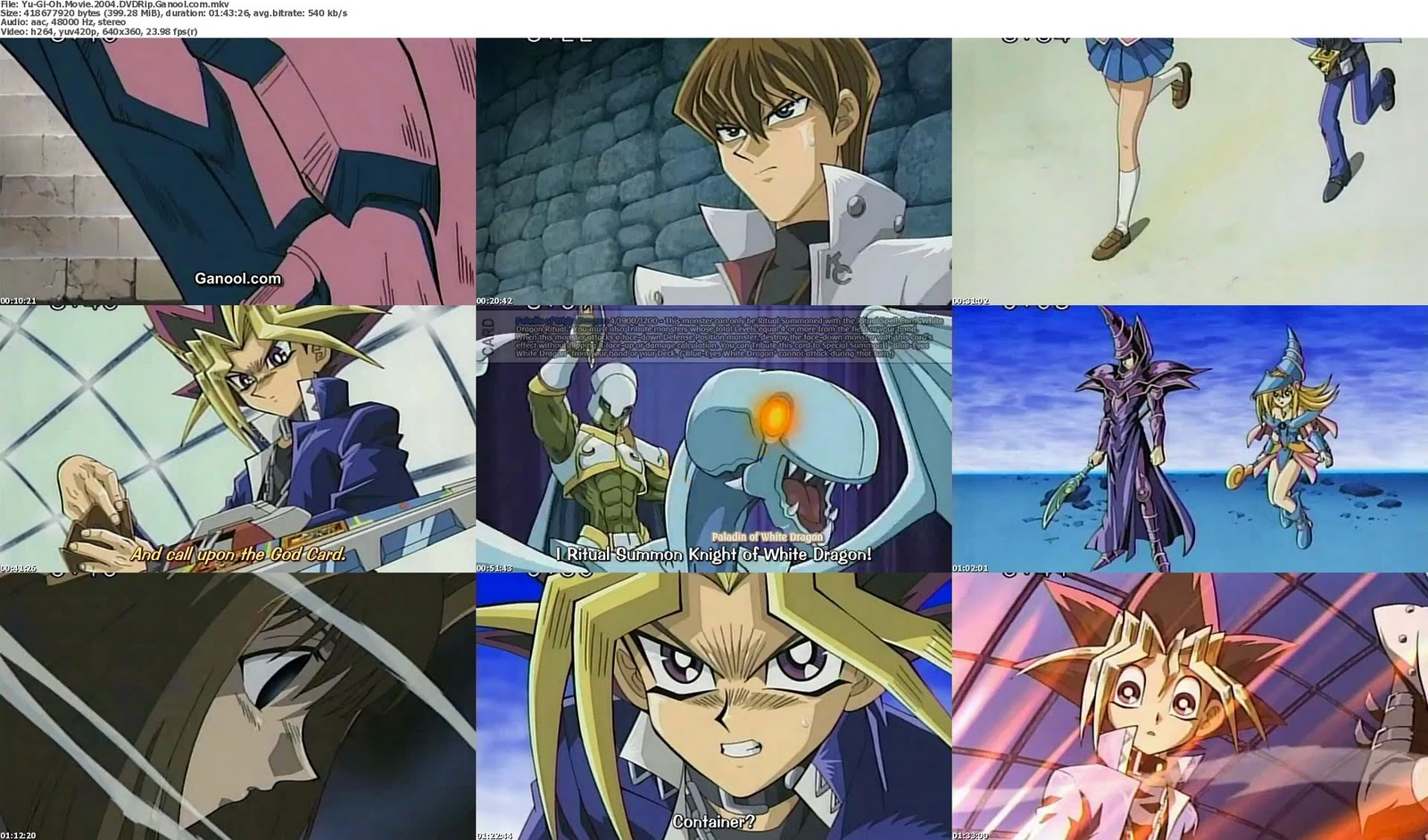 Yu-Gi-Oh! - The Movie (High Quality) MKV DVDRip (Pyramid Of Light)