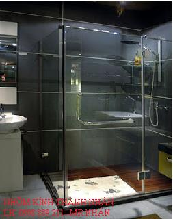 Làm vách kính phòng tắm tphcm