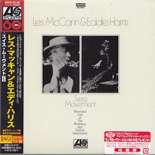 LES McCANN & EDDIE HARRIS - SWISS MOVEMENT (ATLANTIC 1969) Jap mastering cardboard sleeve + 1 bonus