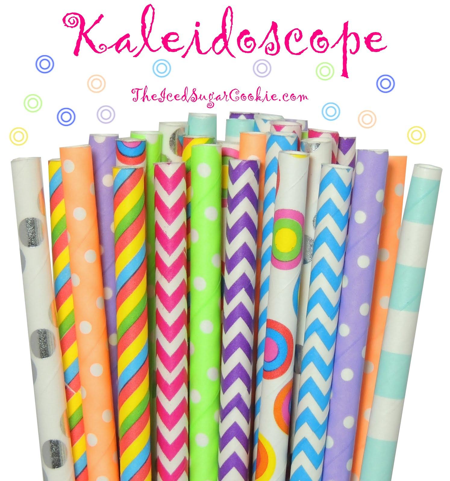 Kaleidoscope Paper Straws