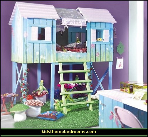 treehouse theme bedrooms backyard themed kids rooms cats
