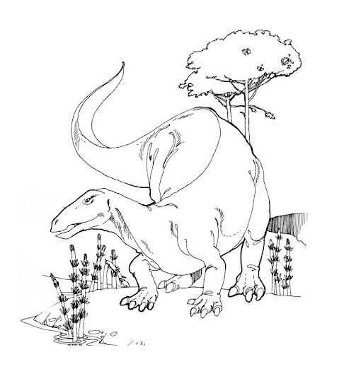 Dinosaurios para colorear: Camptosaurus para colorear