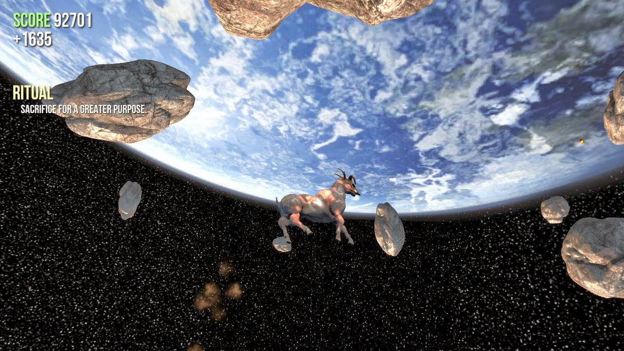 goat simulator screenshot space