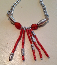 "Nyamanda ""Until There is Peace in Africa"" human rights project 18 inch Maasai Necklace $20 USD"
