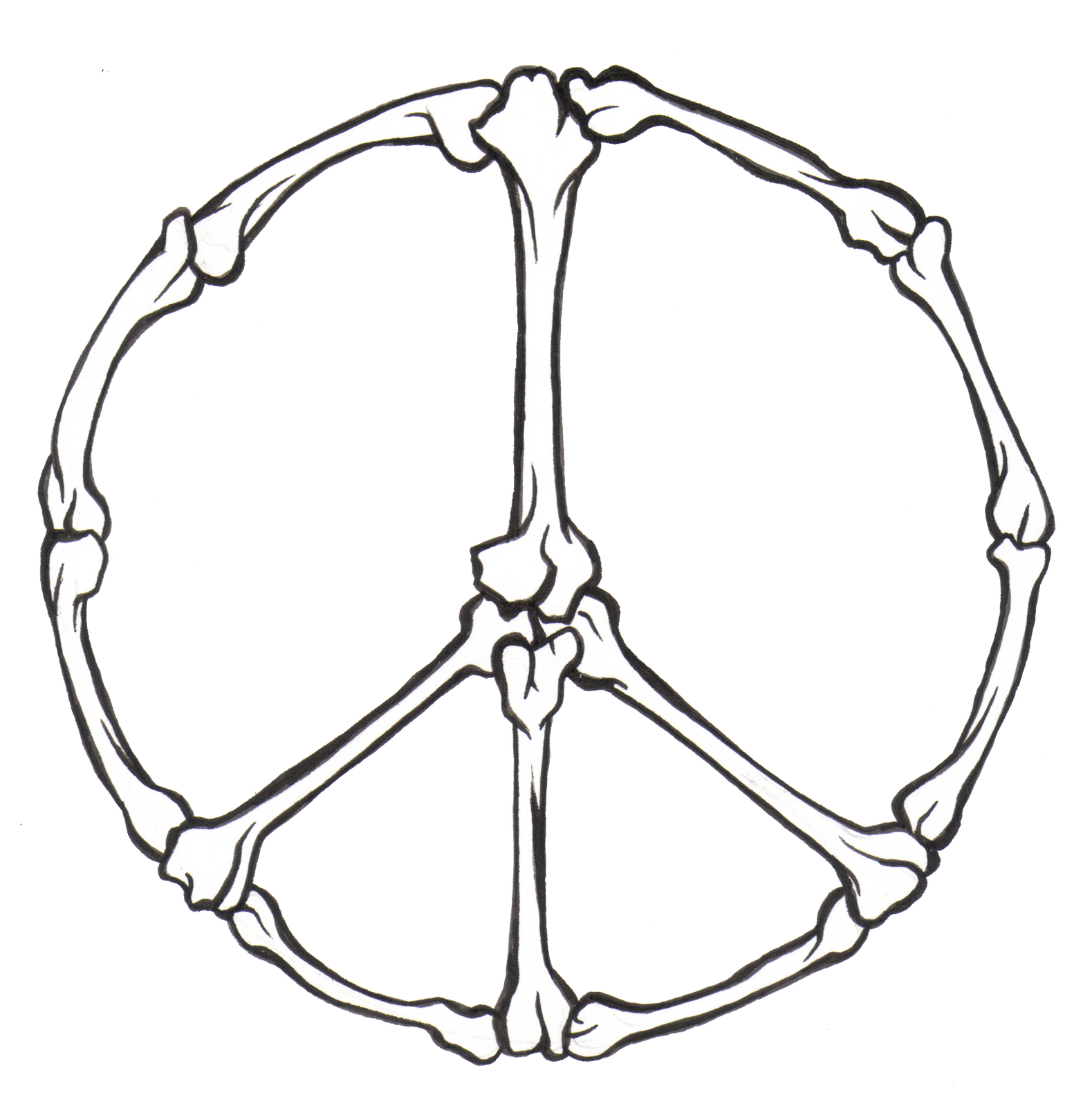cool peace sign coloring pages-#2