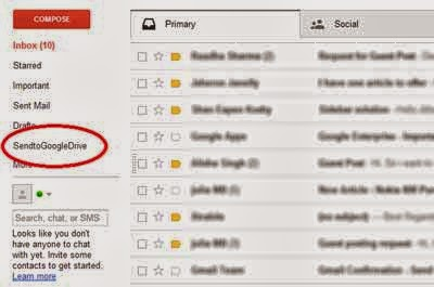 how to see foders in gmail inbox