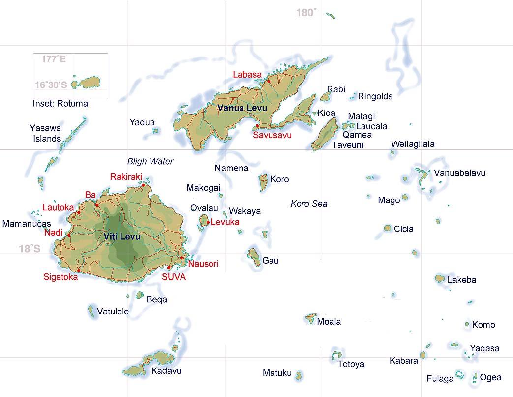 Fiji Road Map